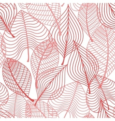Autumnal stylized leaf seamless pattern vector