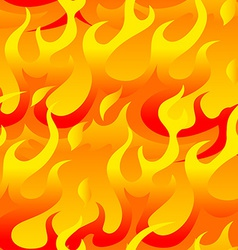 Hot flames seamless pattern vector