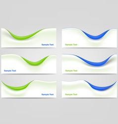 Wavy business templates vector