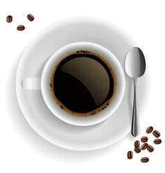 Cup of black coffee vector
