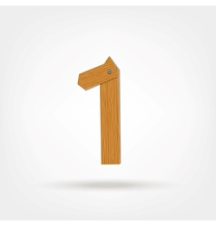 Wooden boards number one vector