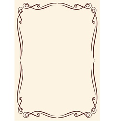 Gold frame with ornaments vector