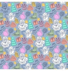 Happy new year and merry christmas pattern vector