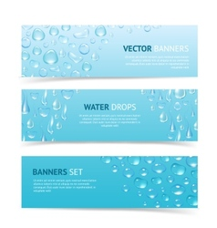 Water drops banners vector