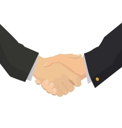 Handshake flat isolated for business vector