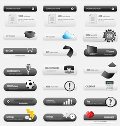 Black business buttons vector