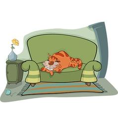 Cat on a sofa vector