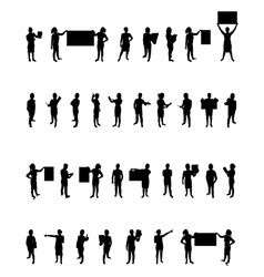 Business people set vector