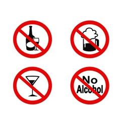 No alcohol sign icon vector