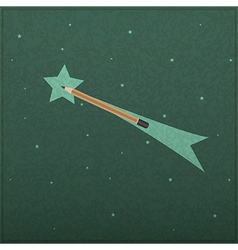 Creativity learning of comet and stars with pencil vector