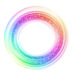 Abstract colorful smooth light circle background vector