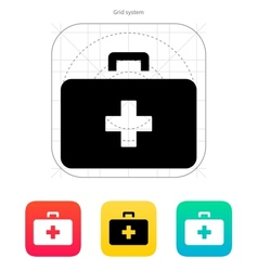 Doctor suitcase icon vector