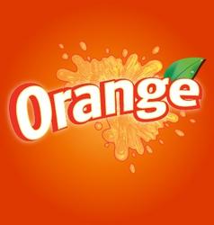 Orange drink logo vector
