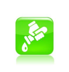 Drop tube icon vector