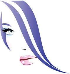 Abstract girl vector