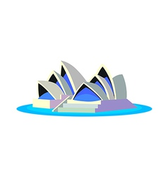 Icon opera house vector