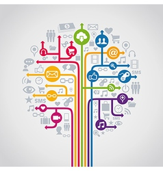 Social media concept tree vector
