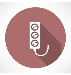 Extension cord icon vector