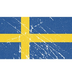 Flag of sweden with old texture vector
