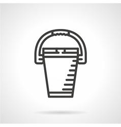 Bucket black line icon vector