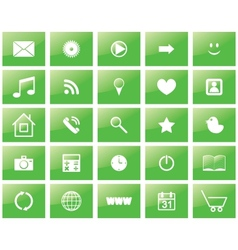 Green eco set of icons vector