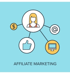 Affiliate marketing vector