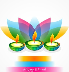 Attractive background of diwali vector