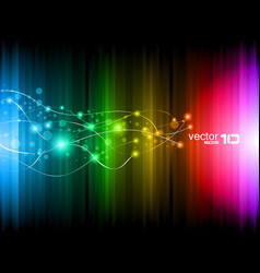 Futuristic rainbow vector