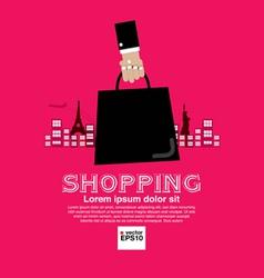 Worldwide shopping tourist vector