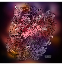 Doodles musical art paint background vector