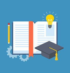 Education learning studying concept flat design vector