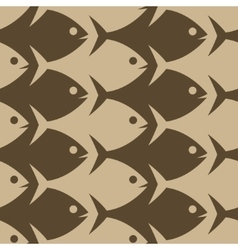 Fish seamless pattern esher style vector