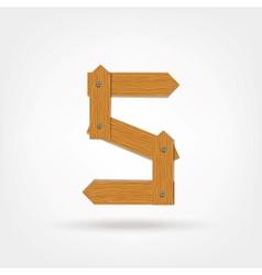 Wooden boards number five vector