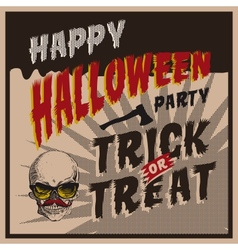 Halloween party design template for vector