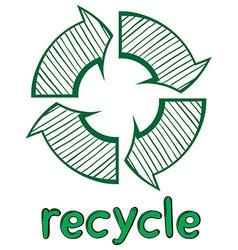 A recycle symbol vector