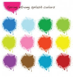 Spring strong splash colors vector