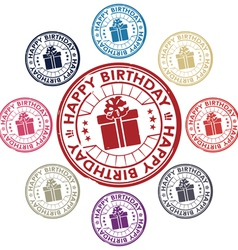 Birthday stamp vector