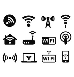 Wifi icons set vector