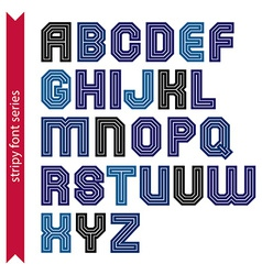 Elegant striped typescript for use in headlines vector
