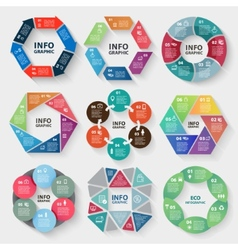 Set of circle abstract infographics vector