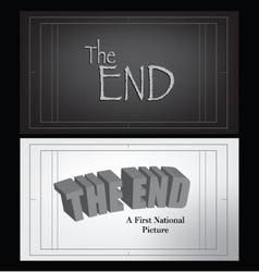 End credits vector