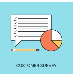 Customer survey vector
