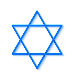 Star of david isolated on white background vector