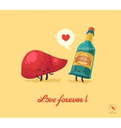 Fnny for lovers vector