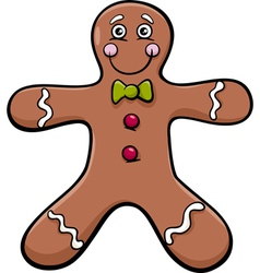 Gingerbread man cartoon vector