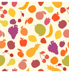 Seamless pattern with fruits assorted fruits vector