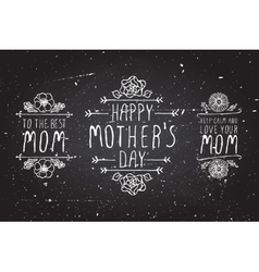 Happy mothers day elements vector