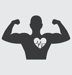 Bodybuilder design vector