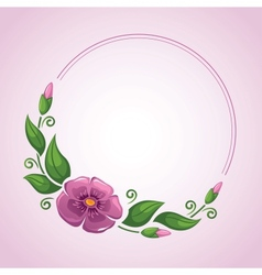 Flower frame in vector