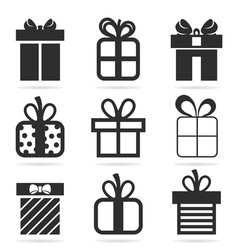 Gift an icon vector